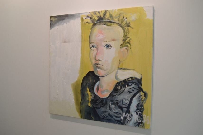 kippenberger - painting work in cologne museum galerie, contact terms in modern new york gallery