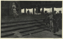 Martin Lewis-Cathedral Steps-1931