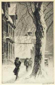 Martin Lewis-Winter on White Street-1934