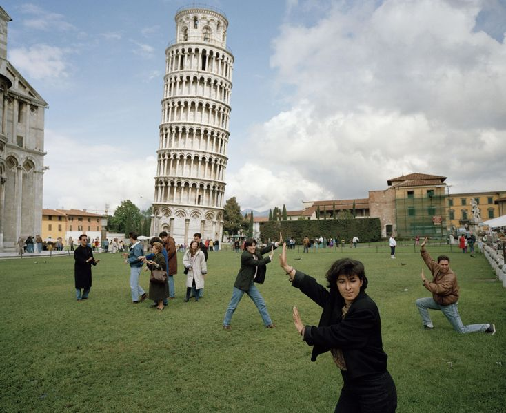 Martin Parr - The Leaning Tower of Pisa.