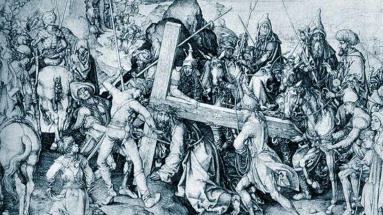 Martin Schongauer - The Carrying of the Cross, via ArtBible