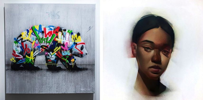 Martin Whatson - Panda, 2020, James Knight - Zuri on White