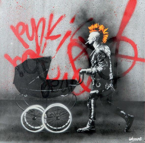Martin Whatson - Punk's Not Dead, 2010 (60 x 60 cm)