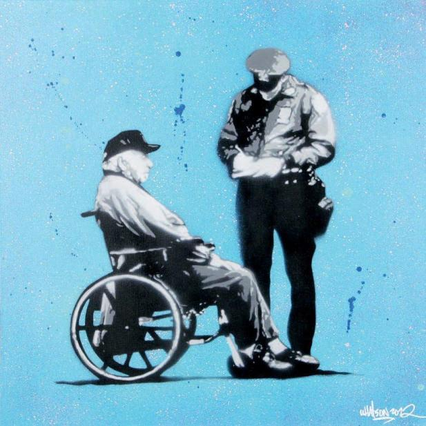 Martin Whatson - Ticket, 2012 (60 x 60 cm)