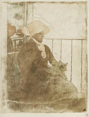 Mary Cassatt-On the Balcony-1889