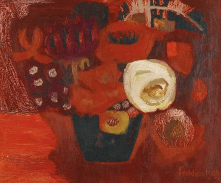 Mary Fedden-Red Flowers-1958
