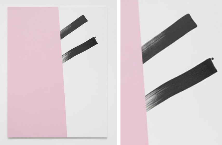 Mary Ramsden - The Dirtiest Selfie at 50pt (Part 1), 2014 (Left) / Detail (Right)