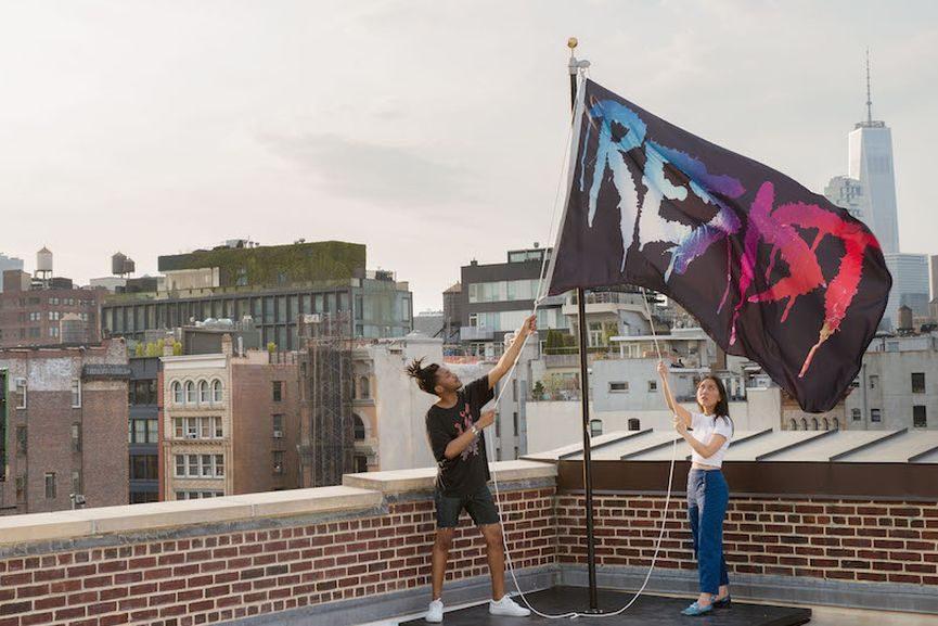 Maryling Minter - Resist Flag, 2017