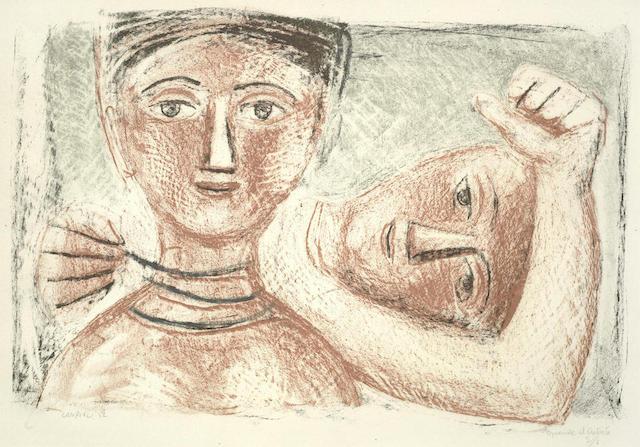 Massimo Campigli-La collana II-1952
