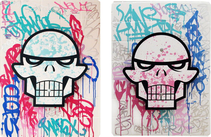 Matt Siren - For The Beautiful Verymod (blue), 2012 and For The Beautiful Verymod (pink), 2012