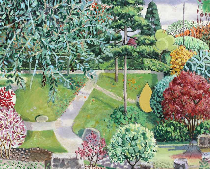 Matthias Weischer - Garden Study II, 2010 - Oil on Canvas