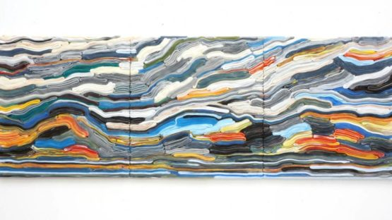 Matthias van Arkel - Strip Painting HO, 2015 - Image via unixgallerycom