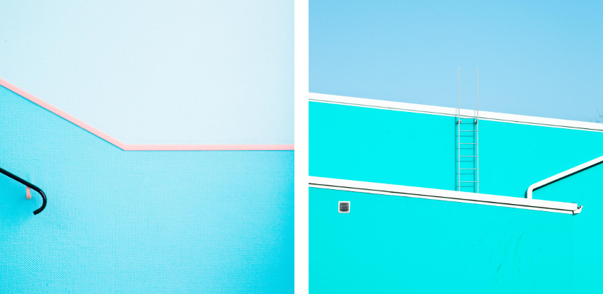 Matthieu Venot - Untitled 1, Ground Loop series, 2014 (Left) / Untitled 1, Prism series, 2014 (Right)