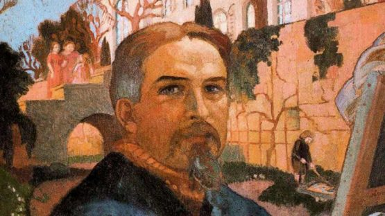 Maurice Denis - Self-Portrait with his Family in Front of Their House, 1916 (detail)