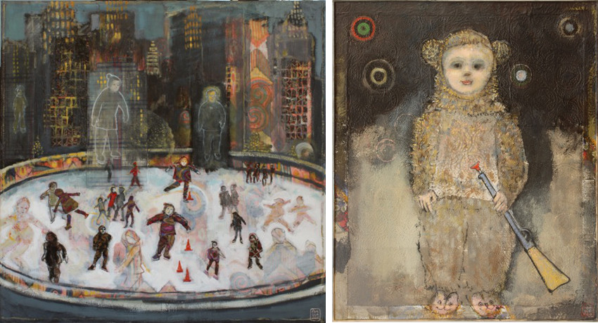M.Fanciello - Ice Rink, 2011 (Left) - Petit Chasseur, 2011 (Right)