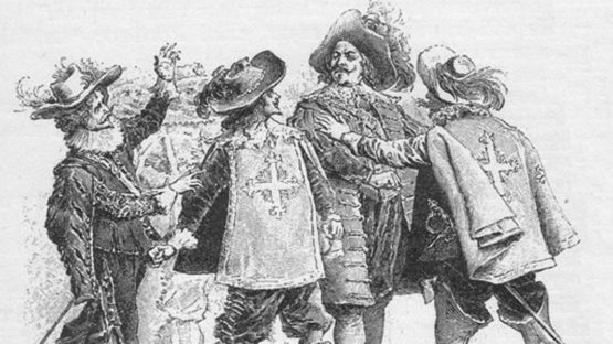 Maurice Leroy - Three Musketeers by Alexandre Dumas, 1894 - Image via pinterestcom