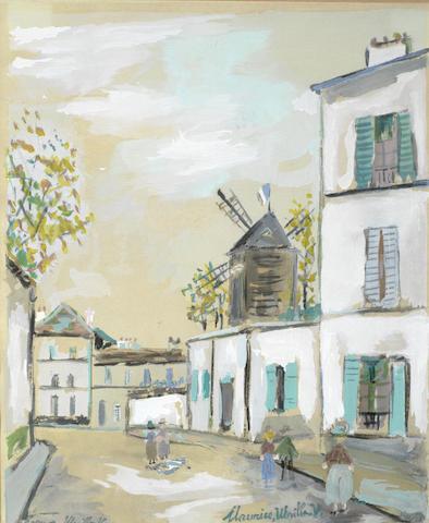Maurice Utrillo-La Petite Rue de Montmartre-1967
