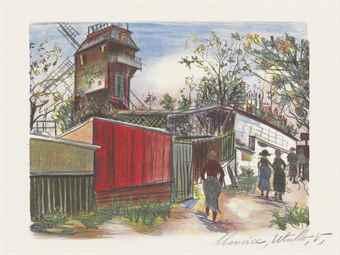 Maurice Utrillo-Le Moulin de la Galette-1924