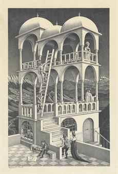 Maurits Cornelis Escher-Belvedere-1958