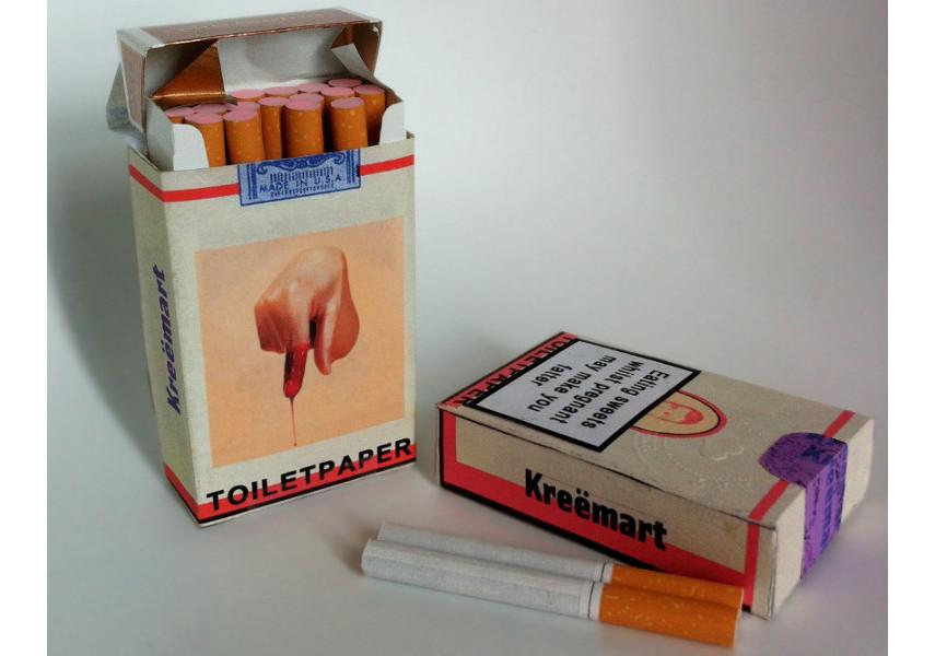 Maurizio Cattelan - Bubble Gum Cigarettes