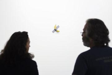 Maurizio Cattelan - Comedian, 2019 at the 2019 Art Basel Miami Beach fairs