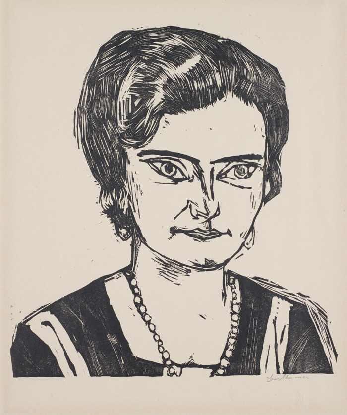 Max Beckmann-Portrait of Frau H.M. (Naila)-1923