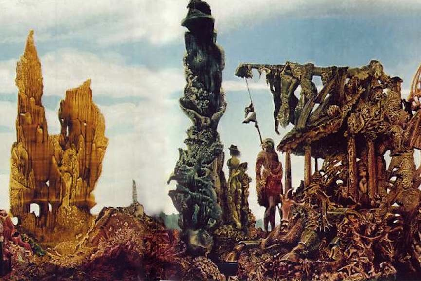 Max Ernst – Europe After the Rain, 1940-1942 is a painting with strong political art characteristics