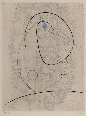 Max Ernst-L'Oiseau Bleu Studie fur Gemini-1968