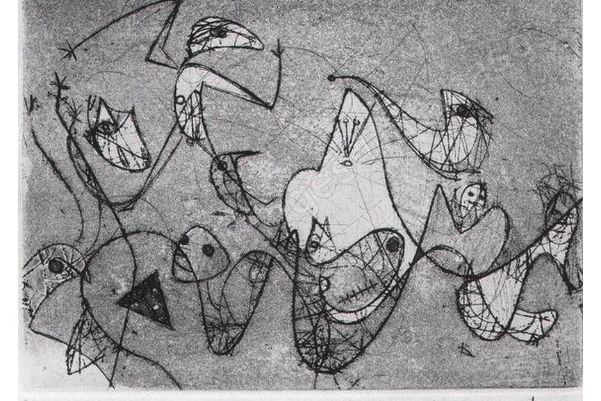 Max Ernst - Ohne Titel, 1950