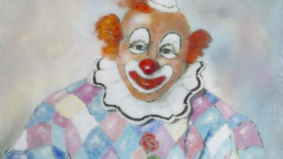 Max Karp - Clown with Flower, ca 1960 (detail)
