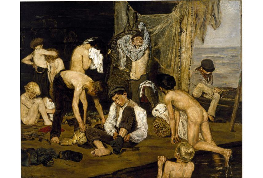 Max Liebermann - Im Schwimmbad Exhibition - image via wikimediaorg