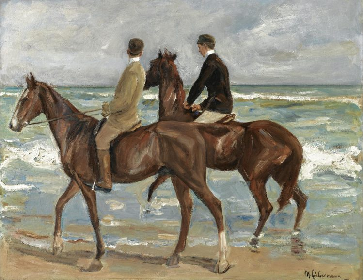 Max Liebermann -Zwei Reiter am Strand. german collector cornelius gurlitt and his father hildebrand stole jewish owned arts to create a trove meant for nazi museum in germany