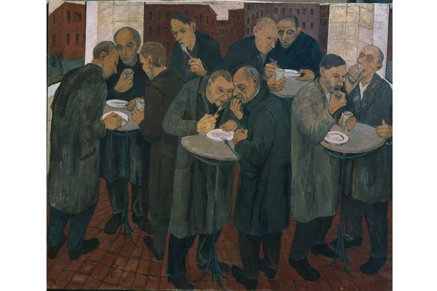 Maxim Kantor - Mensa, 1984; oil painting