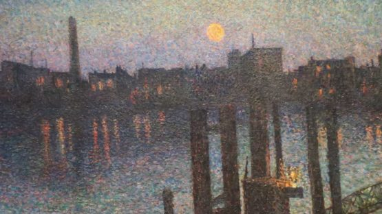Maximilien Luce - Port of London, Night (Detail), 1894 - Copyright High Museum of Art, Image source Wikipedia