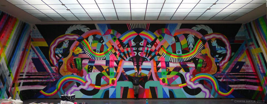 Colorful murals