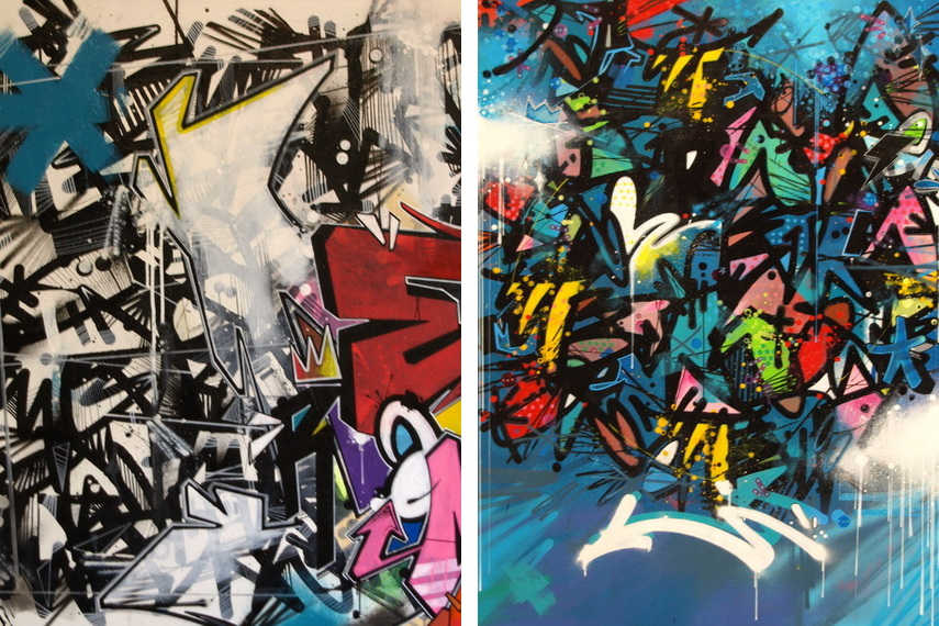 The view of paris walls has largely changed and bettered with Medra's impressive and colorful works