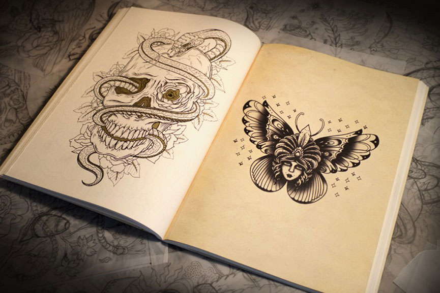 The Tattoo Colouring Book