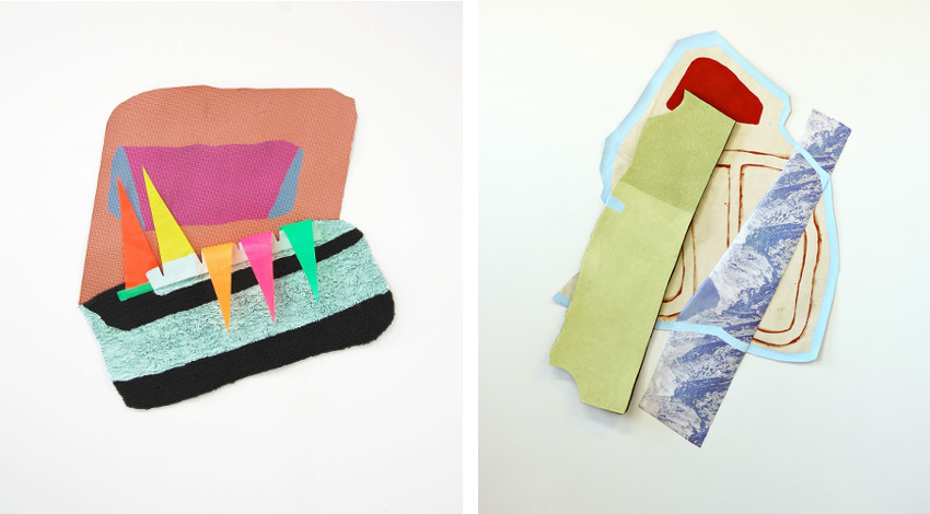 Megan Stroech - Clam Up, 2014 (Left) / Hold It, 2015 (Right)