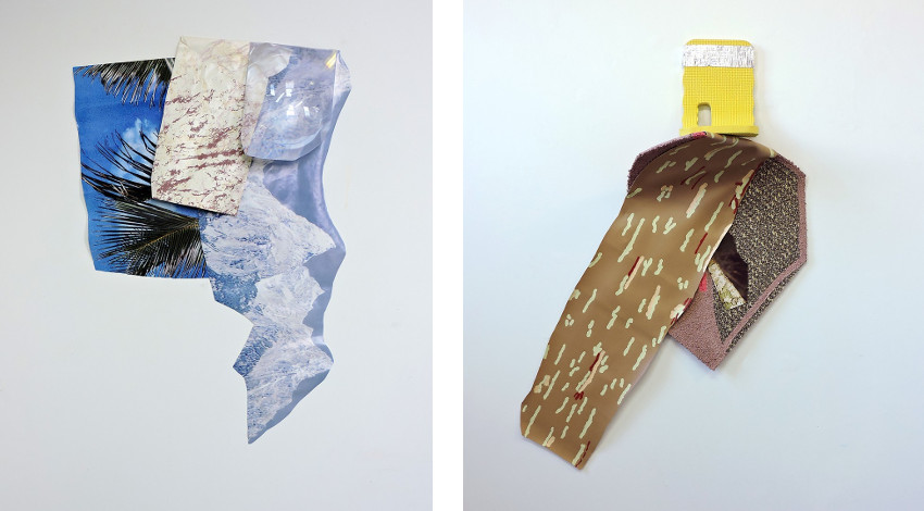 Chicago based Megan Stroech - Ins and Outs, 2015 (Left) / Leeeean Back, 2015 (Right)