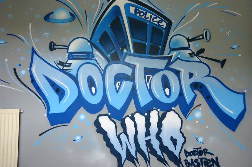 Doctor Who graffiti -Melbourne, Australia