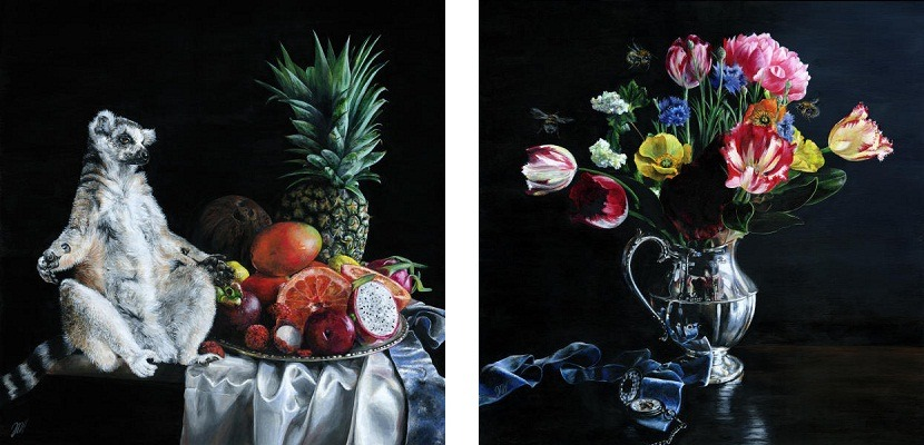 Melissa Hartley - Ghost in the Shadows (left) Danse Macabre (right) 2014