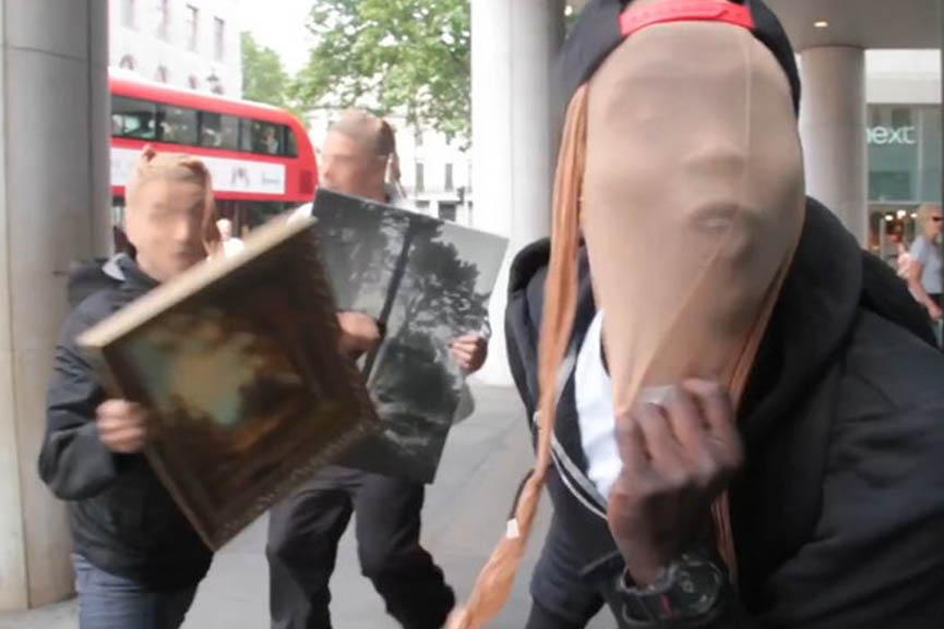 Trollstation art prank gallery youtube video news london national members portrait jailed pranks 2016