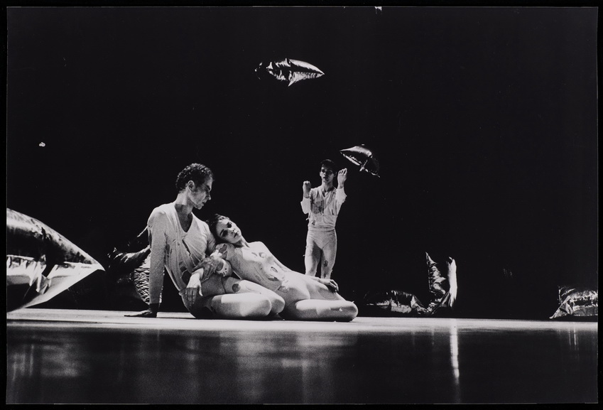 Merce Cunningham, Barbara Dilley, and Albert Reid in RainForest