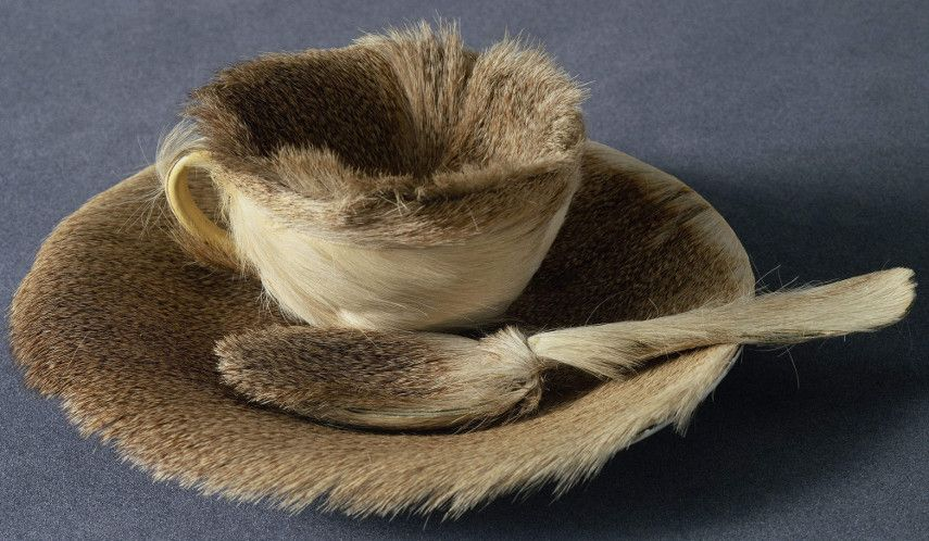 Meret Oppenheim - Object, 1936 - cup museum of fur and teachup, very fitting for Breton history