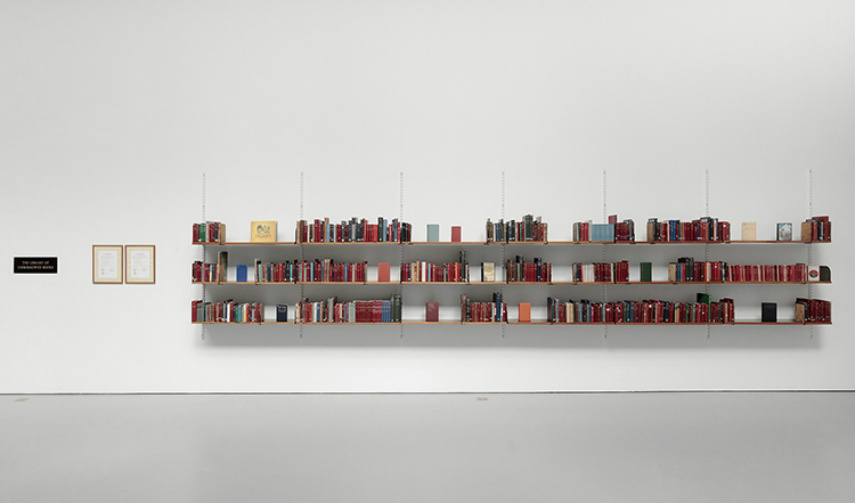 Meriç Algün Ringborg - The Library of Unborrowed Books, 2012, photo credits  Jean-Baptiste Béranger