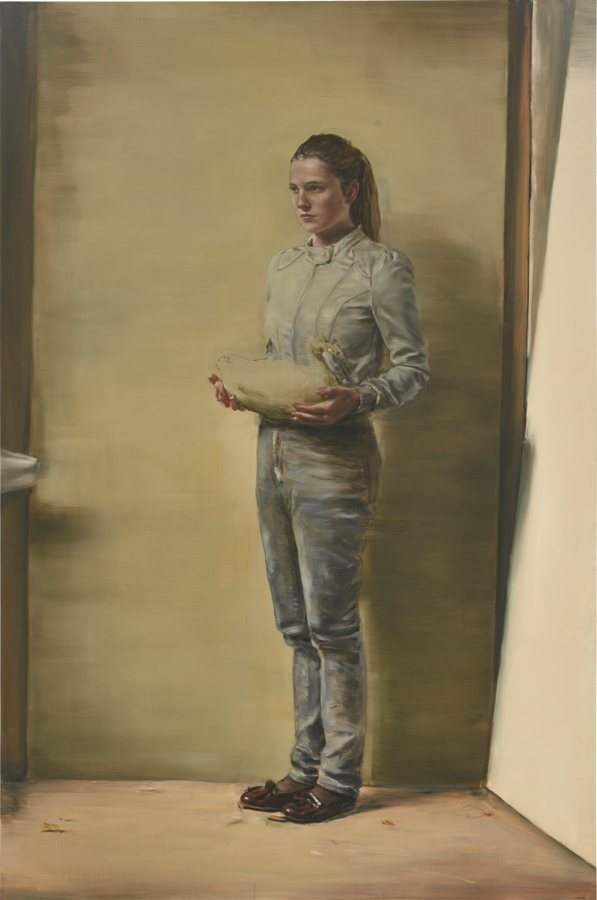 Michael Borremans-Girl With Duck-2011