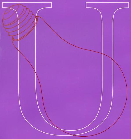 Michael Craig-Martin-U, from Alphabet-2007