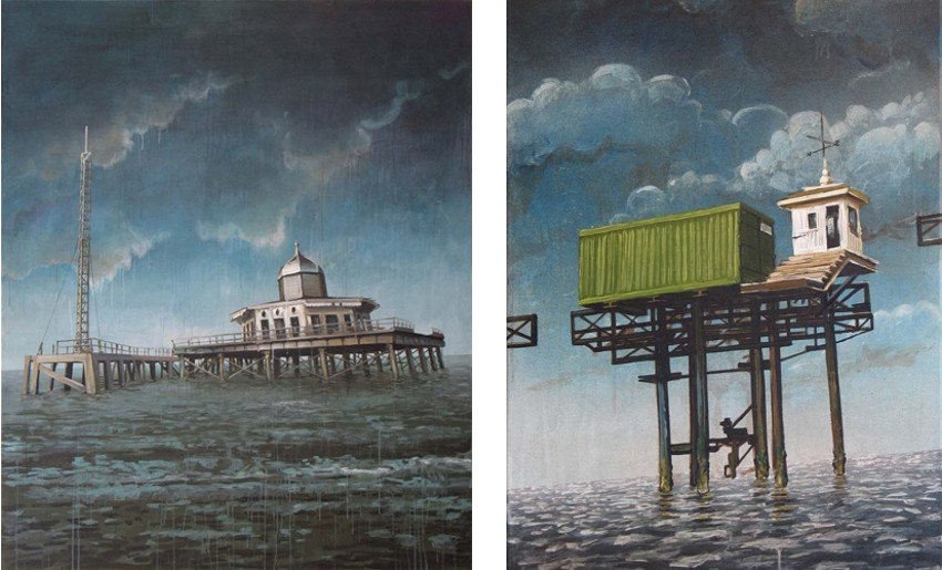 Michael Grudziecki - Untitled 1, Sea Forts (Left) / Untitled 2, Sea Forts (Right)