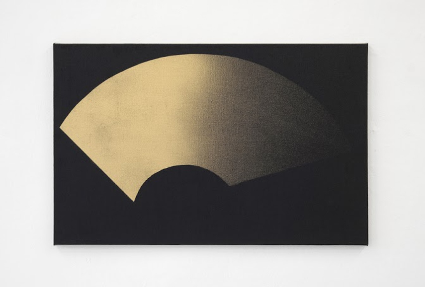 Michael Hakimi - Scheibenwischer, 2014, Lacquer and spray paint on linen