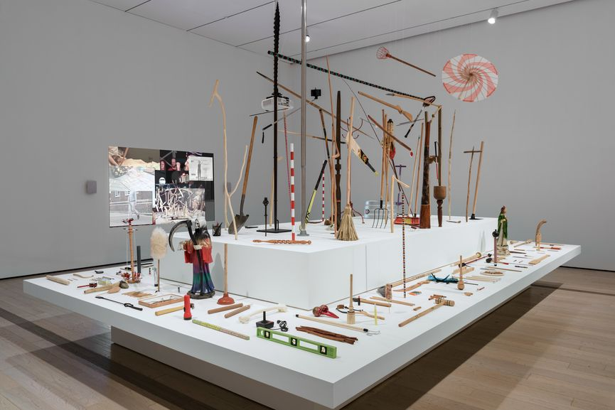 Michael Linares, Museo del palo (Museum of the Stick), 2013–17, and Una historia aleatoria del palo (An Aleatory History of the Stick), 2014